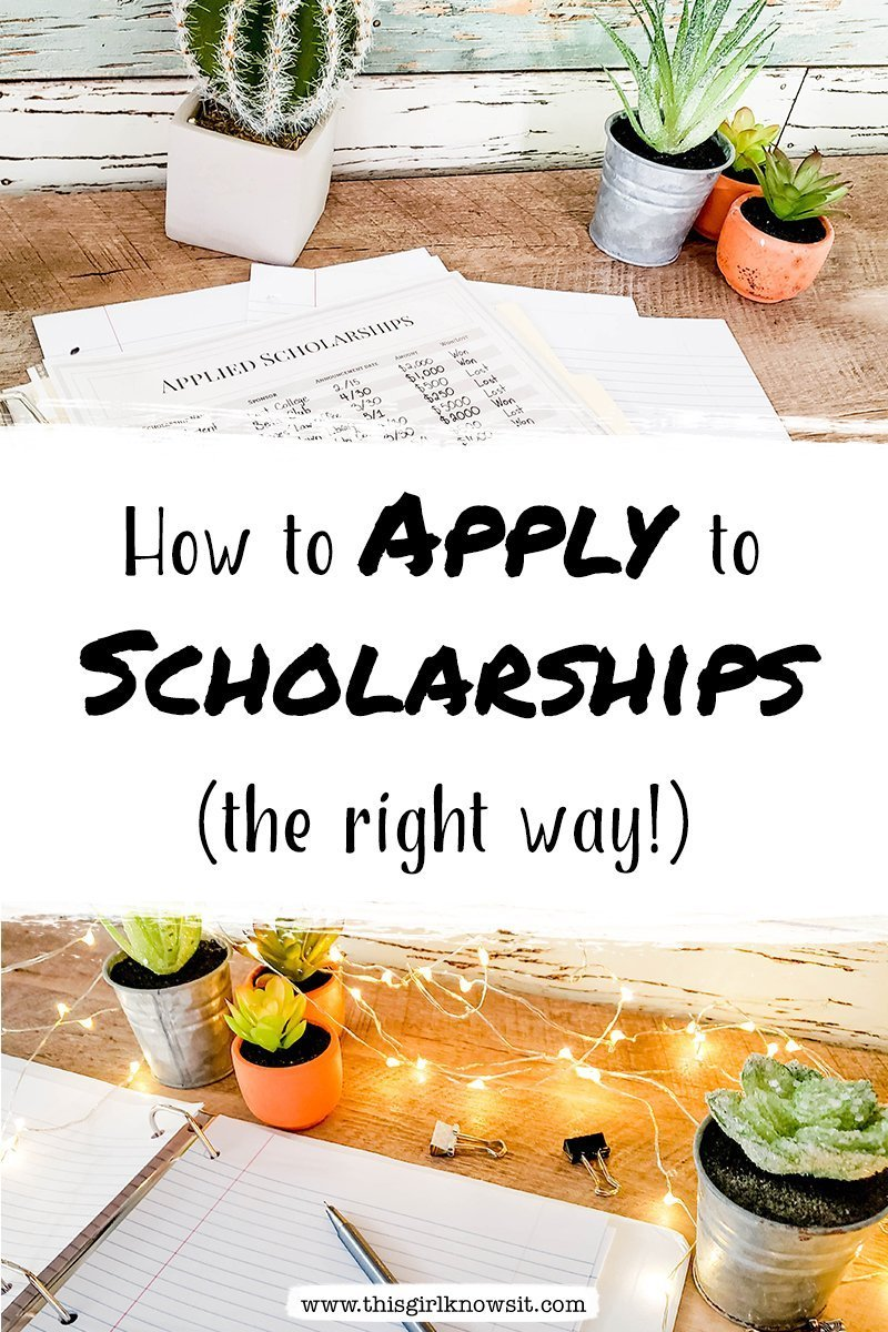 Applying to scholarships is hard, but applying to multiple scholarships efficiently and effectively is even harder. Check out this post to find out some of the best methods on how to apply to scholarships the right way. #college #university #scholarships #financialaid