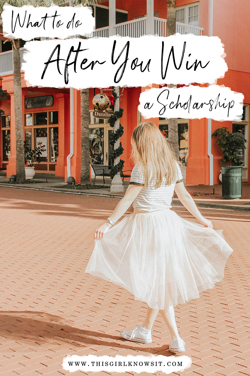 What to do After You Win a Scholarship | There are plenty of articles that reveal the best way to apply to scholarships and how to increase your chances of winning, but none of them tell you what you need to do if you win. This post reveals just that. | #college #university #financialaid #scholarship | www.thisgirlknowsit.com | This Girl Knows It