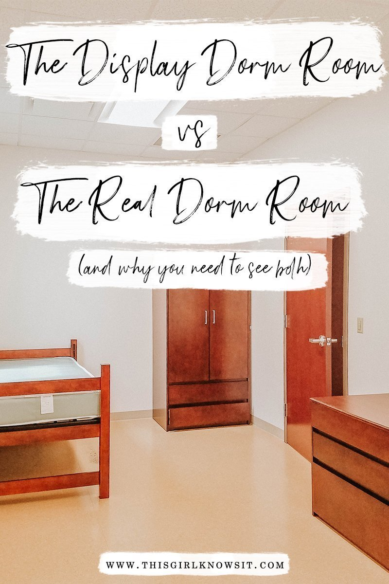The Display Dorm Room vs the Real Dorm Room | As I took campus toursl, I was often shown dorm rooms, and the difference between an actual dorm room and a display dorm room can be very different. This post helps explain my experiences with college tours and why you need to see an actual dorm room on a college tour, not just the display room. | #dorm #apartment #college #university #dormroom | www.thisgirlknowsit.com | This Girl Knows It