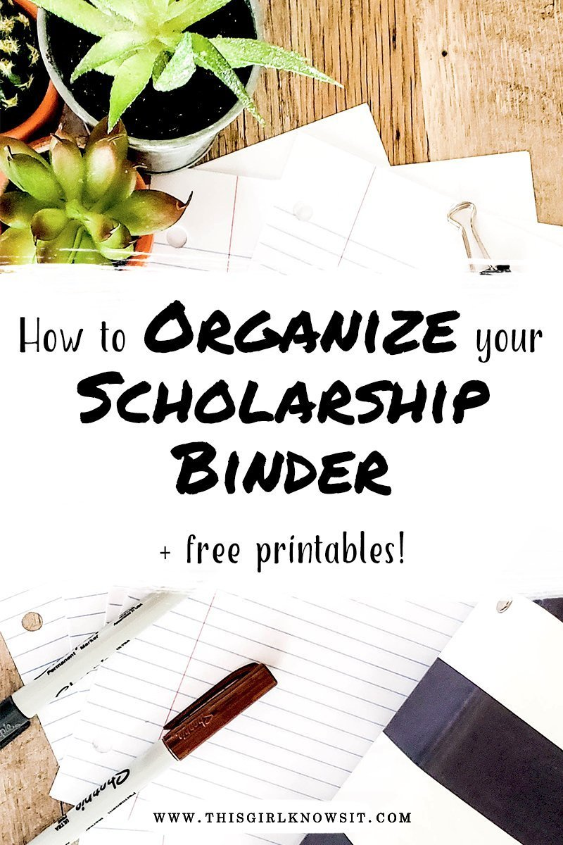 photograph regarding Free Organization Printables for College Students identify How toward Arrange Your Scholarship Binder This Female Is aware It