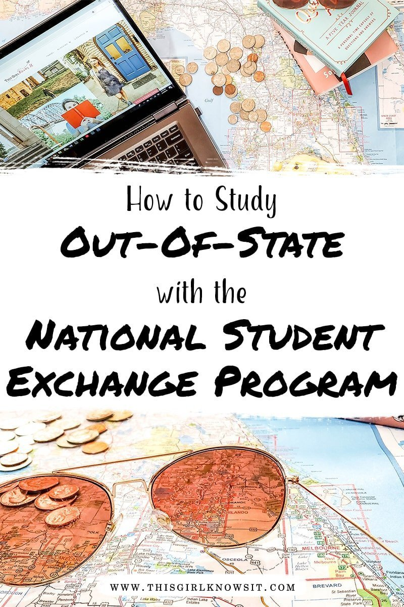 Want to attend college out-of-state? Check out this post on the National Student Exchange Program to learn how you could possibly go to college out-of-state for the in-state price! #college #university #exchange #exchangestudent