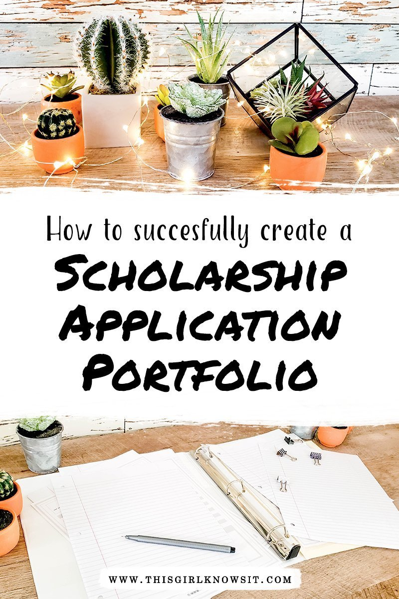 Applying to scholarships for college and university is tough. With dozens of requirements, essays, paperwork, and more, it's hard to keep it all straight. To help keep everything organized and to save you time and stress when applying to scholarships, consider making a scholarship application portfolio. Creating a scholarship application portfolio puts your scholarship materials all in one spot, and sometimes makes applying to scholarships as easy as copy-and-paste. This post covers the essentials of creating a scholarship application portfolio, a perfect addition to your scholarship binder! | #college #university #scholarship #portfolio
