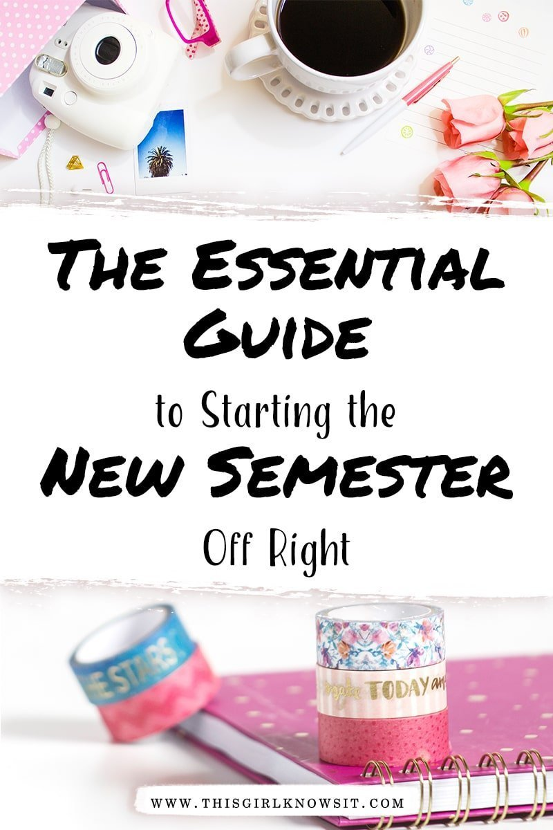 The start of a new semester can be tough, but it doesn't have to be! Check out this essential guide on how to start the new semester off right and make it your best one yet! #college #university #semester #students #education