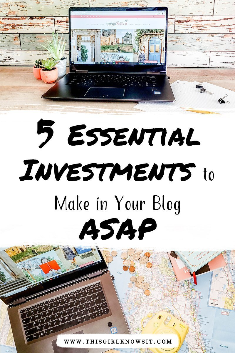 Blogging is a huge investment of both time and money, but it can be hard to figure out what exactly you need to invest in to grow your blog. This post reveals the 5 best tools and resources you need to invest in for your blog ASAP! #blog #bloggingtips #bloggerlife #startablog