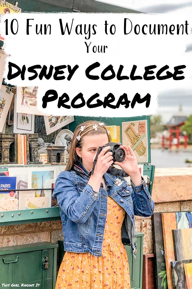 The Disney College Program is an amazing experience and you'll want to document all of the magical moments to look back on later. But how should you document your Disney College Program? Check out this post for a list of 10 ideas on how to document your Disney College Program. #disneycollegeprogram #dcp #disney #college #collegeprogram